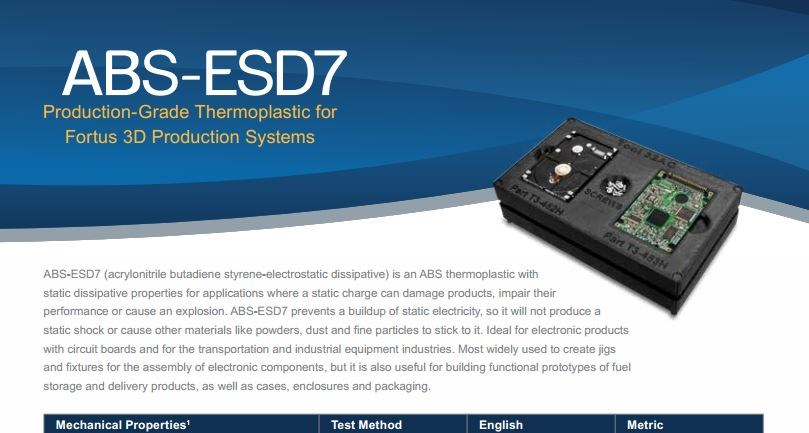 ABS-ESD7 Spec Sheet