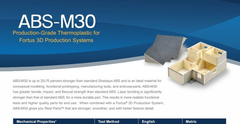 ABS-M30 Spec Sheet